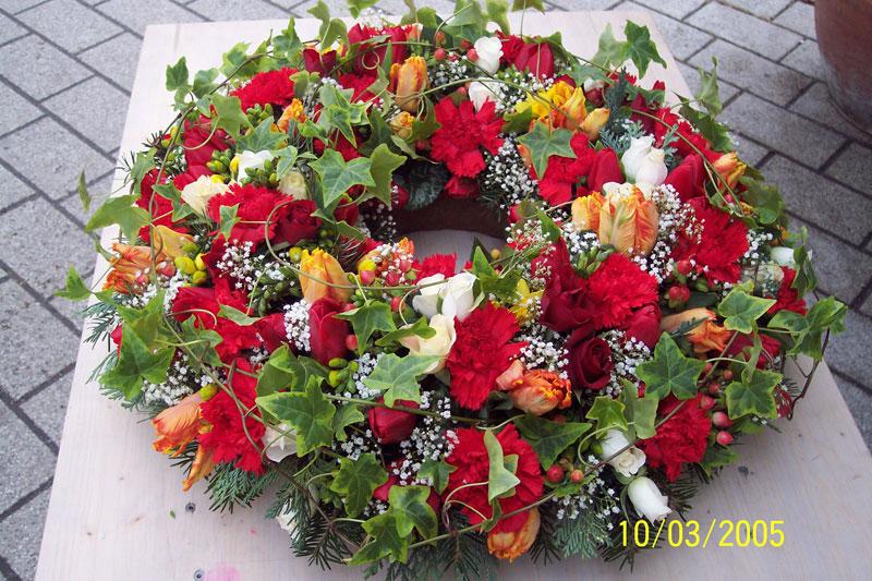 Trauerkr 228 Nze Blumen Bindekunst Sieg Bruchsal